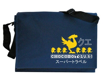 Chocobo Tours Navy Blue Messenger Shoulder Bag
