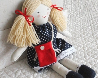 Handmade Rag doll, child's doll, forever rag doll