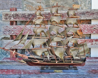 Vintage Scale Cutty Sark Clipper Ship