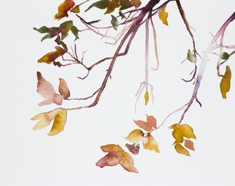autumn leaves no. 2 . original watercolor painting