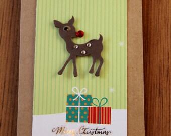Handmade Cards, Handmade Christmas Cards, Handmade Christmas Card, Reindeer Card