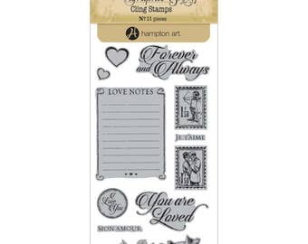 Graphic 45 MON AMOUR 2 Cling Stamps IC0345S 1.cc72