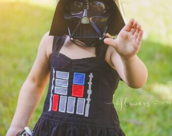 Star Wars Dress- Darth Vader- Disney Vacation- Star Wars Costume- Star Wars Cosplay- Girls Star Wars- Birthday Theme-Girls Toddler- Starwars