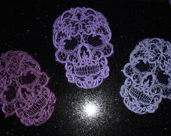 Lace Skull appliques NEW COLORS ADDED