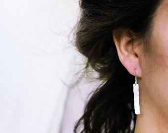 Rectangle Earrings / Dangle Rectangle Earrings / Long Rectangle Earrings / Basic Rectangle Earrings / Bridal Jewelry / Classic Earrings