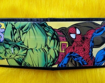 Spider-Man vs. The Hulk Comic Book Duct Tape Wallet