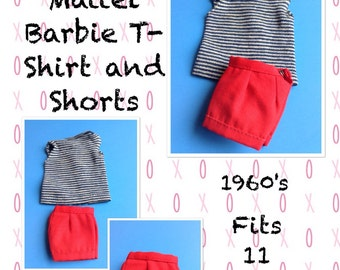 Vintage Barbie shorts and t-shirt