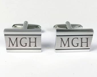 Set of 5 Personalized Cuff Links ,Custom Cuff Links, Engraved Monogrammed cufflinks, Tacks -Groomsman, Groomsmen gifts, free engraving