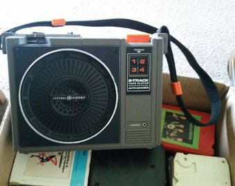 GE Portable 8 Track Tape Player