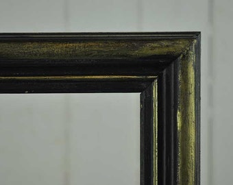 Reloved timber frame painted in black & gold