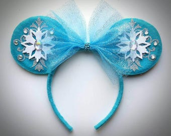 Frozen Elsa inspired Minnie Mouse Ears