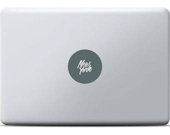 New York MacBook Sticker, Laptop decal, Vinyl decal, MacBook Pro, MacBook Air, New York City lettering, NYC, USA, Graffiti  Street Art,