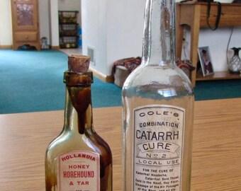 Rare Cure Bottles - Paper Labels