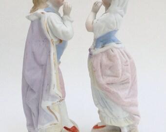 Pair of Bisque Figurines, Romantic Couple