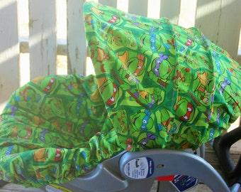 teenage mutant ninja turtles infant car seat cover and hood  cover