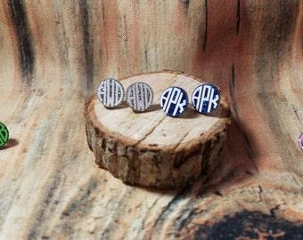 Circle Monogram Acrylic Earrings