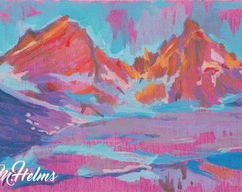 Print or Note Card: Mountain Top
