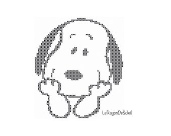 Cross stitch pattern Snoopy love dog pet Valentine Instant download PDF