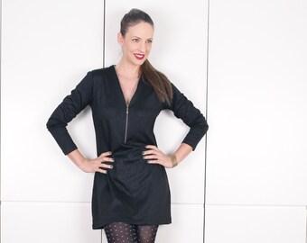 Womens Tunic Dress, Black Long Sleeve Dress, High Fashion, Party Dresses for Women, Micro Mini Dress, Long Sleeve Mini Dress, Clothes Women