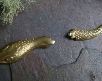 Raw Brass Stamping Snake Head and Tail