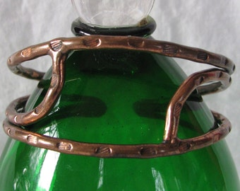Artisan Hand Crafted Forged and Hammered Copper Cuff Bracelet, Unique, 1970s Southwestern