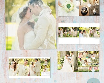 Wedding Album Template - 12 x 12 and 10x10 inch supplied - Photoshop template - RW001 - INSTANT DOWNLOAD