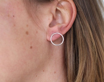 Infinity Hoops - Recycled Silver