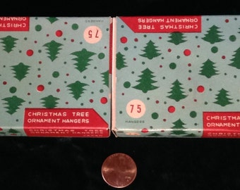 2 Boxes of Vintage Antique Christmas Tree Ornament Hangers Made in Japan!