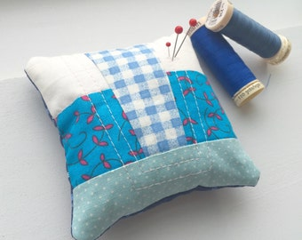 Blue Quilted Pin Cushion