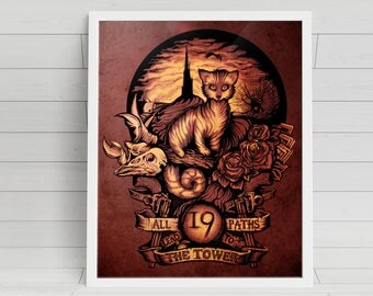 Nineteen signed Poster Art Print - 11x14