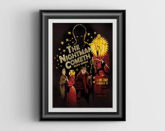 The Nightman Cometh - It's Always Sunny in Philadelphia artwork - signed art print - 8x12