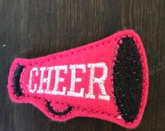 UNCUT cheer megaphone feltie