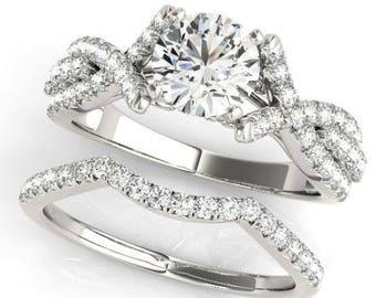 Cathedral Split Shank Engagement Ring