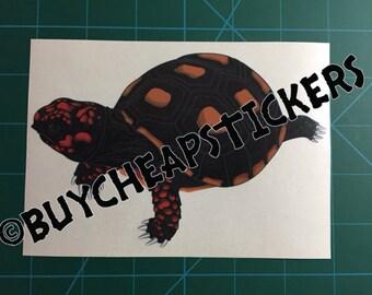 Redfoot Tortoise Decal/Sticker 4X6