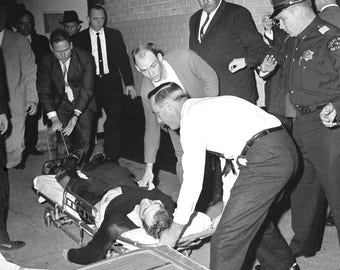 John F. Kennedy , Lee Harvey Oswald after Jack Ruby Shot him in the parking garage of the Dallas police dept.