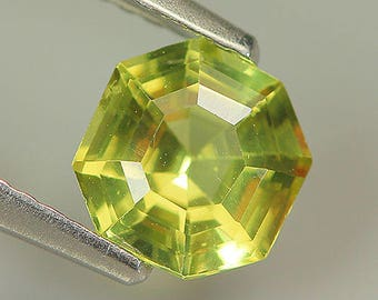 1.04 Ct Natural Unheated Greenish Yellow APATITE Octagon/Fancy Gem