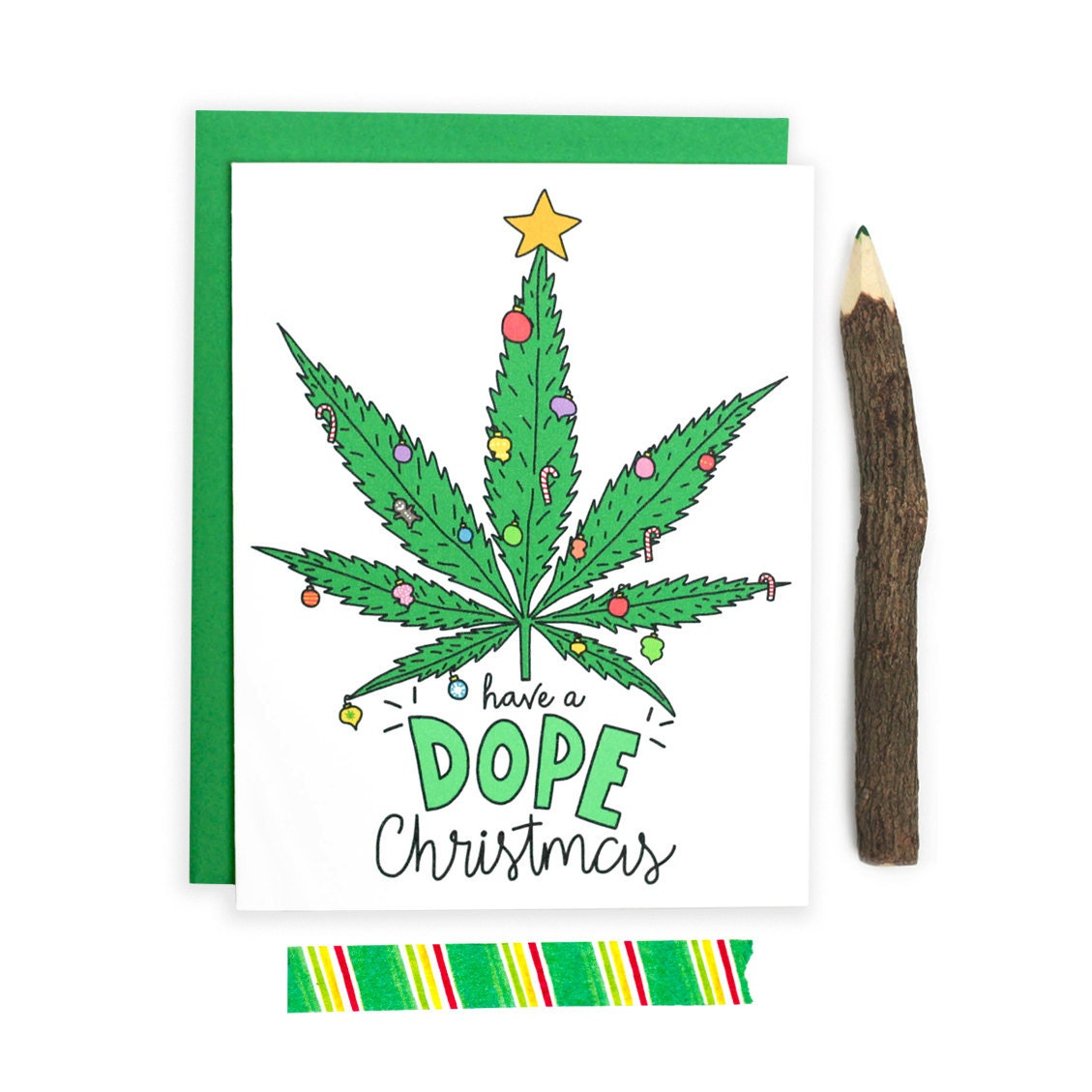 Adult Christmas Card Dope Christmas Weed Card Stoner Card