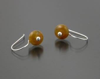 Sterling Silver African Opal Earrings   Gem Spotlight Collection