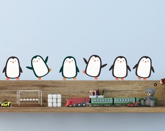 Penguin Wall Decals - Christmas Fabric Wall Decals