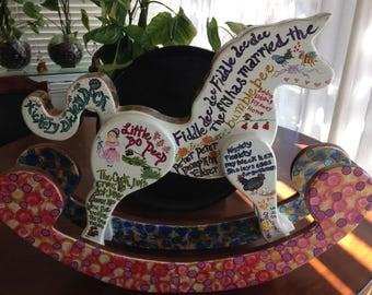 Nursery Rhyme Rocking Horse