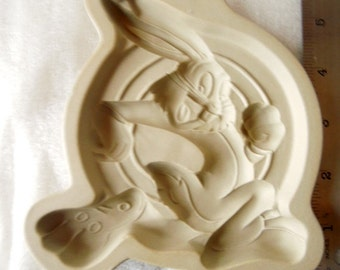 Warner Brothers Cookie Mold, Buggs Bunny, Stoneware Cookie Mold, Cartoon Character