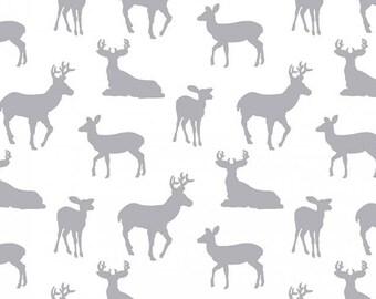 Deer Double Gauze, Shannon Fabrics Double Gauze, elk, printed gauze, Embrace Double Gauze Cotton, Cotton Muslin Swaddle Fabric, 100% cotton