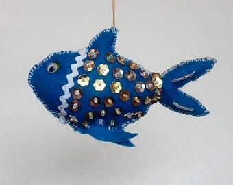 blue fish ornament