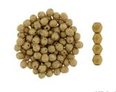 PACIFICA MACADAMIA MATTE: 4mm Faceted Round Firepolish Czech Glass Beads (50 beads per strand)