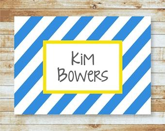 Personalized Notecard / Stationery / Stripes / Kim & Sophie