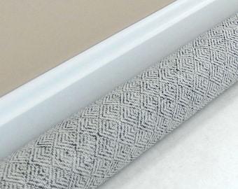 Extra Long Draft Stopper - 38, 40, 42, 44, 46, 48, 50, 52 inches - Door Snake - UPHOLSTERY FABRIC  - Door Draft Blocker - Grey Tweed