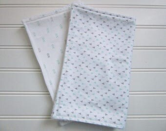 Burp Cloths-Gender Neutral Burp cloth Set-Baby Shower Gift-Chenille Burp Cloths-Baby Accessory