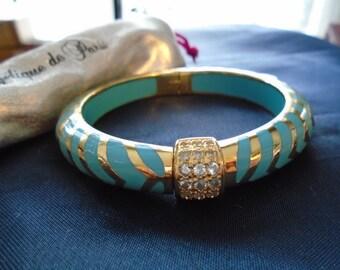 Angelique  de Paris Turquoise Mata Hari Sterling Silver & 18K Gold Bracelet