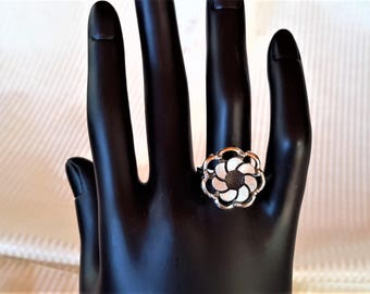 Vintage 1970s Sarah Coventry Silver Tone Adjustable Ring