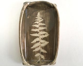 Fern Ceramic Dish For Soap or Everything Else, Symbol of Health and Healing